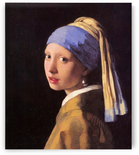 The girl with the pearl earring by Vermeer by Vermeer