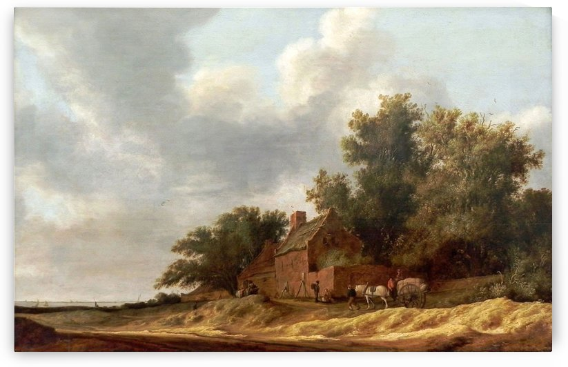 Landscape with farmstead, 1631 by Salomon van Ruysdael