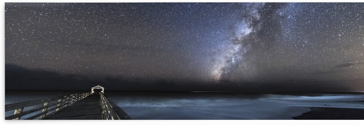 The Milky Way crossing the night sky at Waimea State Recreation Pier in Hawaii  USA by 7ob