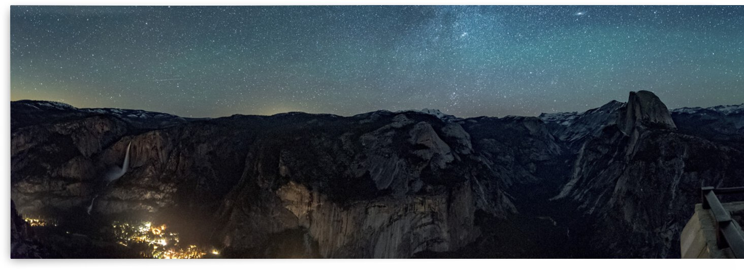 The Milky Way across the night sky in Yosemite Valley California  USA by 7ob