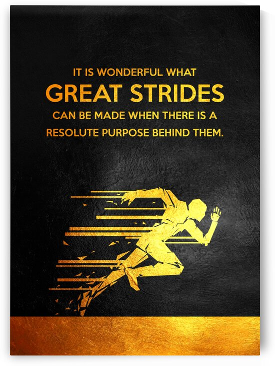 Great Strides Motivational Wall Art by ABConcepts