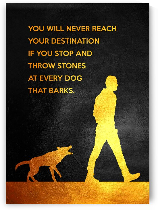Dont Throw Stones Motivational Wall Art by ABConcepts