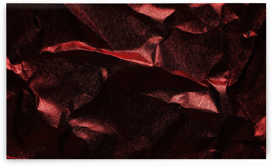 Background of crumpled red metal sheet by Krit of Studio OMG