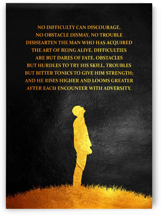Adversity Motivational Wall Art by ABConcepts