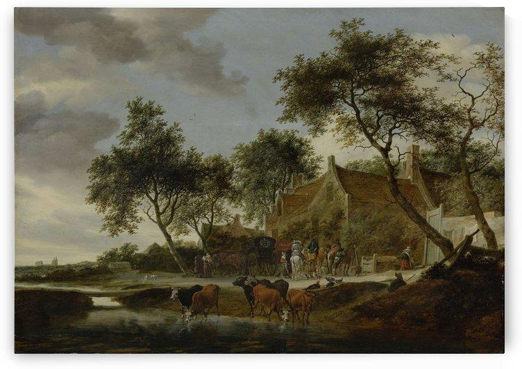 Pleisterplaats, 1660 by Salomon van Ruysdael