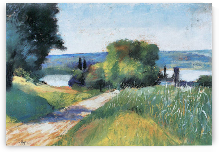 Sea and Landscape by Lesser Ury by Lesser Ury