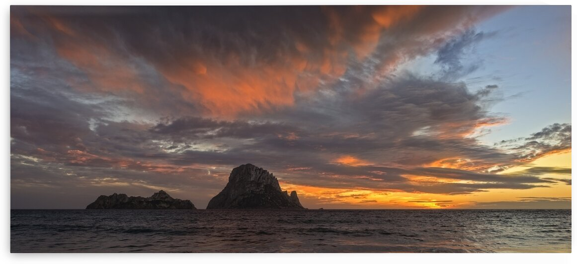 Sunset on the island of Es Vedra in Ibiza Spain by Vicen photography