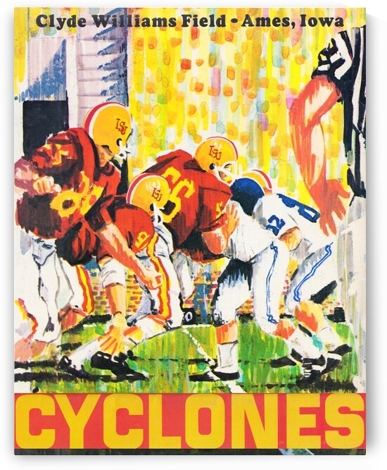 1969 Iowa State Football Retro Remix Poster by Row One Brand