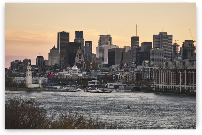 Canadian port city during sunset Montreal Quebec Canada by Atelier Knox