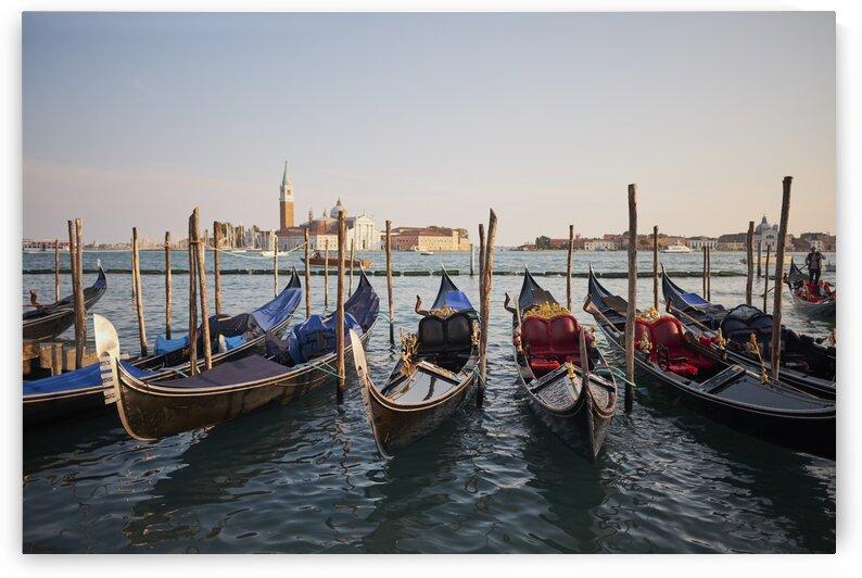 Venetian gondolas in the adriatic sea on the edge of San Marco Venice Italy 2017 by Atelier Knox