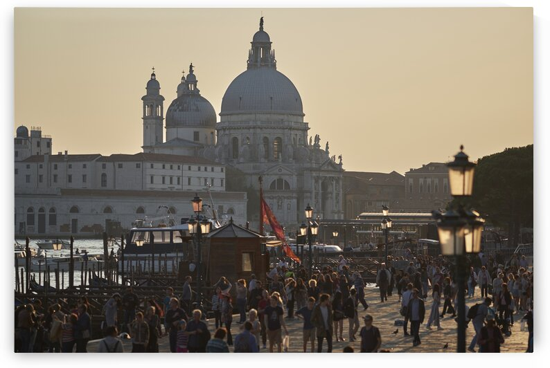 Streets of San Marco at sunset Venice Italy by Atelier Knox
