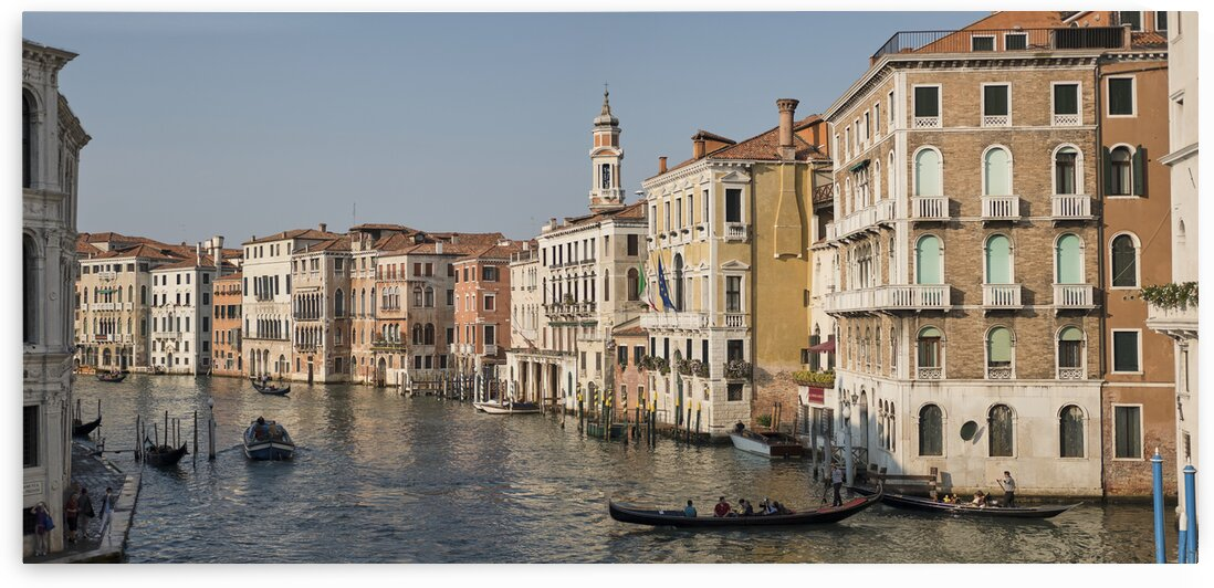 The grand canal from the rialto bridge Venice Italy by Atelier Knox
