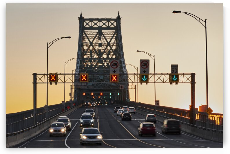Jacques cartier bridge during sunset Montreal Quebec Canada by Atelier Knox