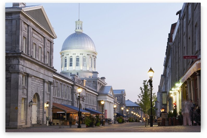 Marche bonsecours in the old port district during summer Montreal Quebec Canada by Atelier Knox