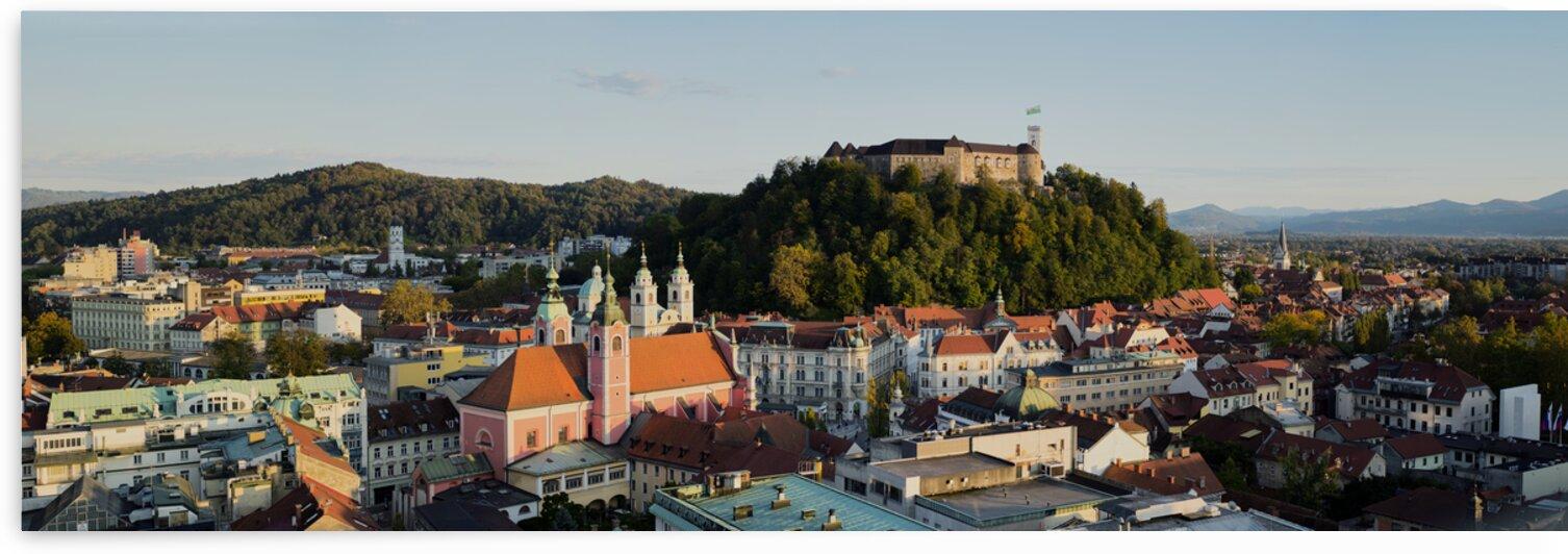 Slovenian cityscape at sunset Ljubljana Slovenia by Atelier Knox