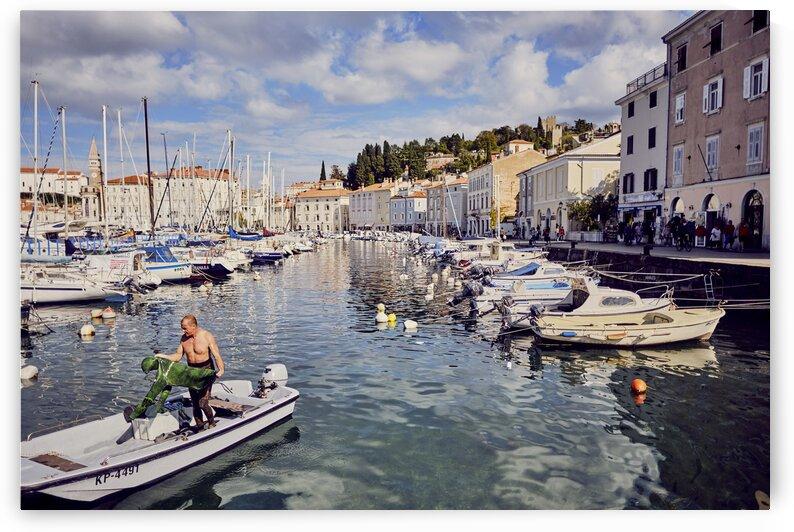 Port of slovenian resort town on the adriatic coast Piran Slovenia by Atelier Knox