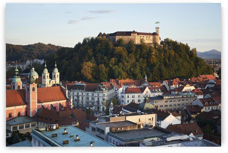 Slovenian cityscape at sunset Ljubljana by Atelier Knox