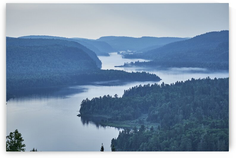 Winding lake in Canadian National park Shawinigan Quebec Canada by Atelier Knox