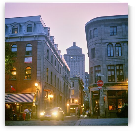 Buildings of tourist district on summer evening Montreal Quebec Canada by Atelier Knox