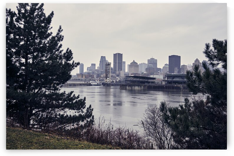 Canadian cityscape during day of rain Montreal Quebec Canada by Atelier Knox