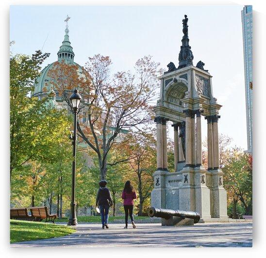 Sir John Alexander Macdonald Memorial in downtown park Montreal Quebec Canada by Atelier Knox