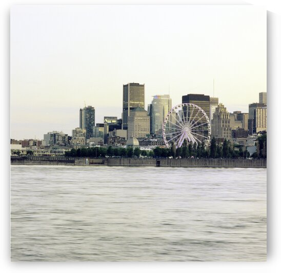 City skyline from across the water Montreal Quebec Canada by Atelier Knox