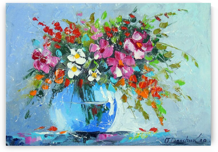 Bouquet of summer flowers in a vase  by Olha Darchuk