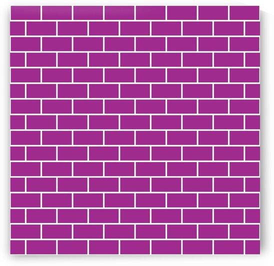 Magenta Brick Pattern by rizu_designs