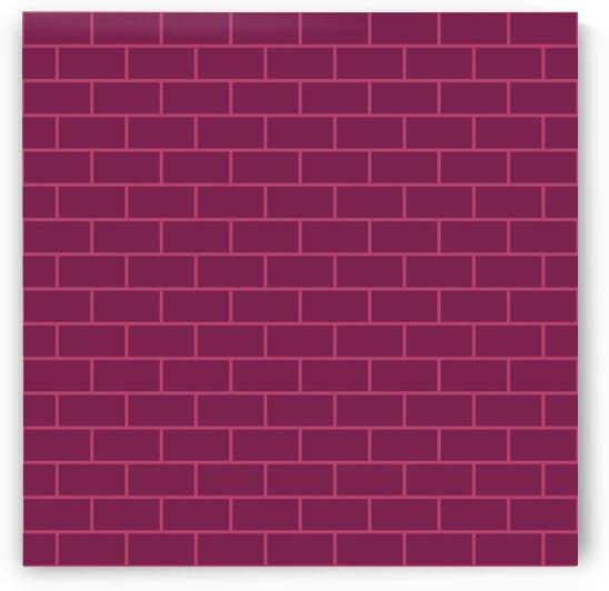 Magenta Pink Brick Pattern by rizu_designs