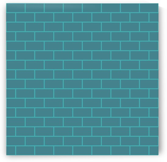 Blue Green Bricks Pattern by rizu_designs