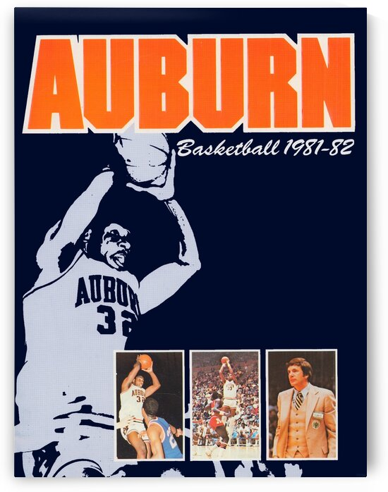 1981 Auburn Tigers Basketball Poster by Row One Brand