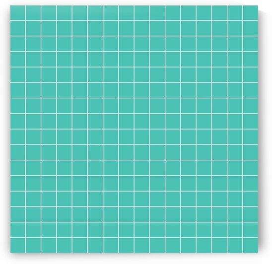 Turquoise Brick Pattern by rizu_designs