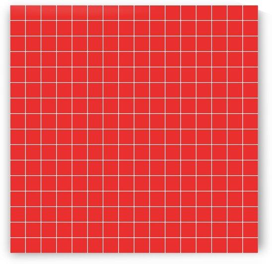 Red Orange Check Line Pattern by rizu_designs