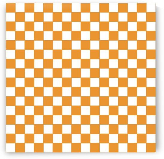 Orange Check Pattern by rizu_designs