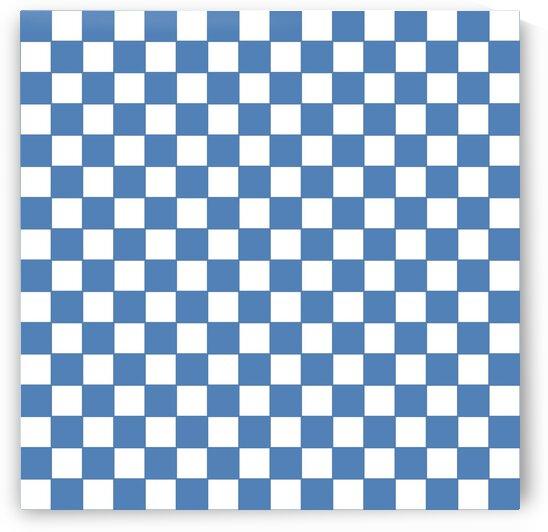 Dark Blue Check Pattern by rizu_designs