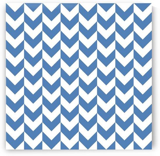 Royal Blue Chevron Pattern by rizu_designs