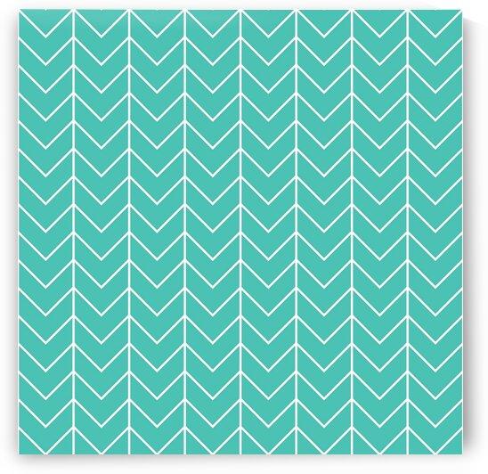 Turquoise Blue Chevron Pattern by rizu_designs