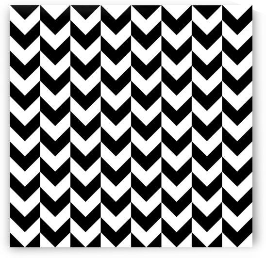 Black Chevron Check Pattern by rizu_designs