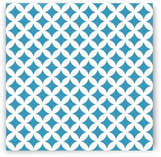 Blue Retro Circle Pattern by rizu_designs