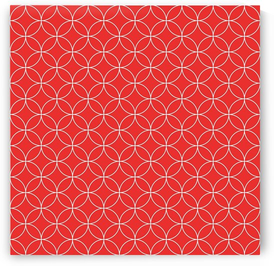 Pinkish Red Retro Circle Pattern by rizu_designs