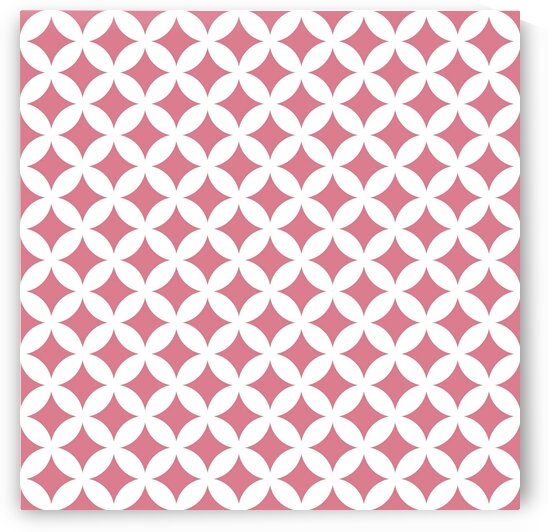 Red and White Retro Circle Pattern by rizu_designs