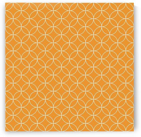 Orange Retro Circle Pattern by rizu_designs