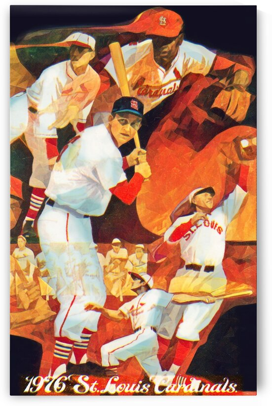 1976 St. Louis Cardinals Art by Row One Brand