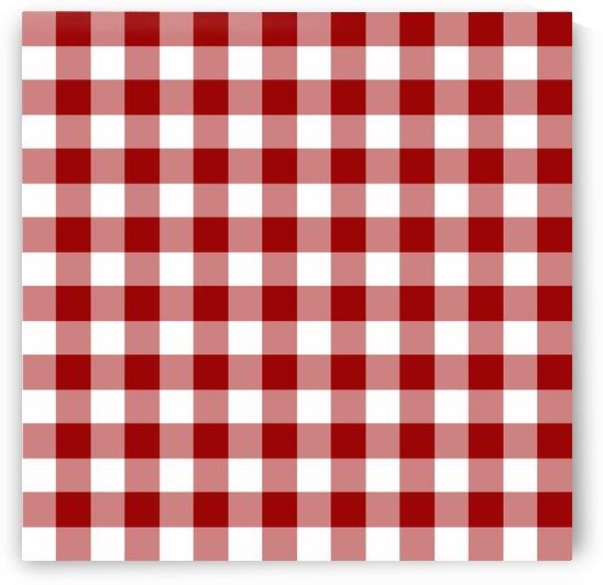 Red Plaid Pattern by rizu_designs