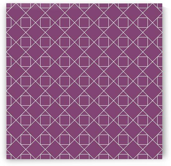Light Purple Squares And Diamonds Pattern by rizu_designs