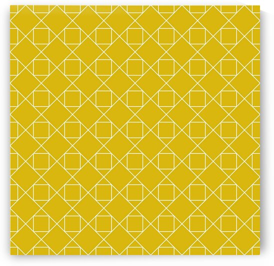 Yellow Squares And Diamonds Pattern  by rizu_designs