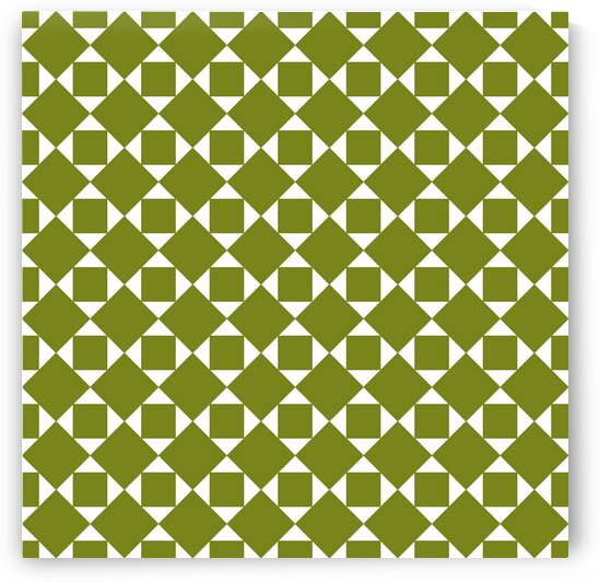 Green Squares And Diamonds Pattern  by rizu_designs