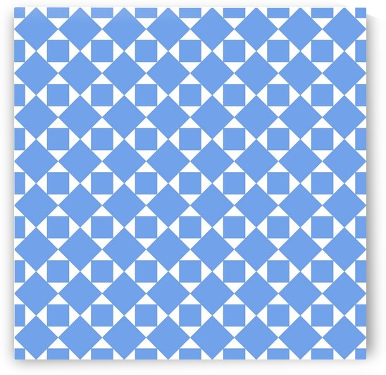 Blue Squares And Diamonds Pattern  by rizu_designs