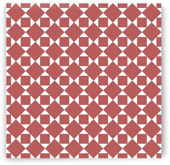 Maroon Squares And Diamonds Pattern  by rizu_designs