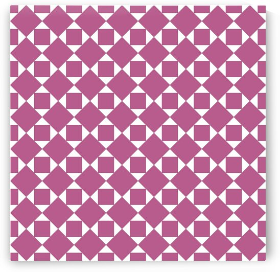 Pink Squares And Diamonds Pattern by rizu_designs